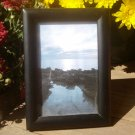 "Simple Black Wooden Picture Frame 3 1/2"" x 5 1/2"" Inside Measurement"