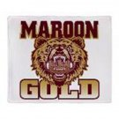 "Kutztown University Stadium Throw Blanket Maroon & Gold 48 x 69"" Soft & Fleecy"