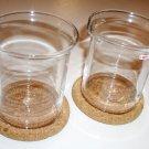 BODUM Bistro Sugar and Creamer Set with cork coasters