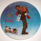 Norman Rockwell Plate Wrapped Up in Christmas Limited Edition 1981 Christmas Collection Series
