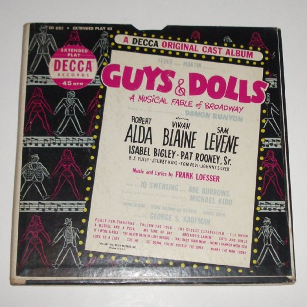 Guys & Dolls Original Cast Album 3 Vinyl Record Albums in Gatefold Set