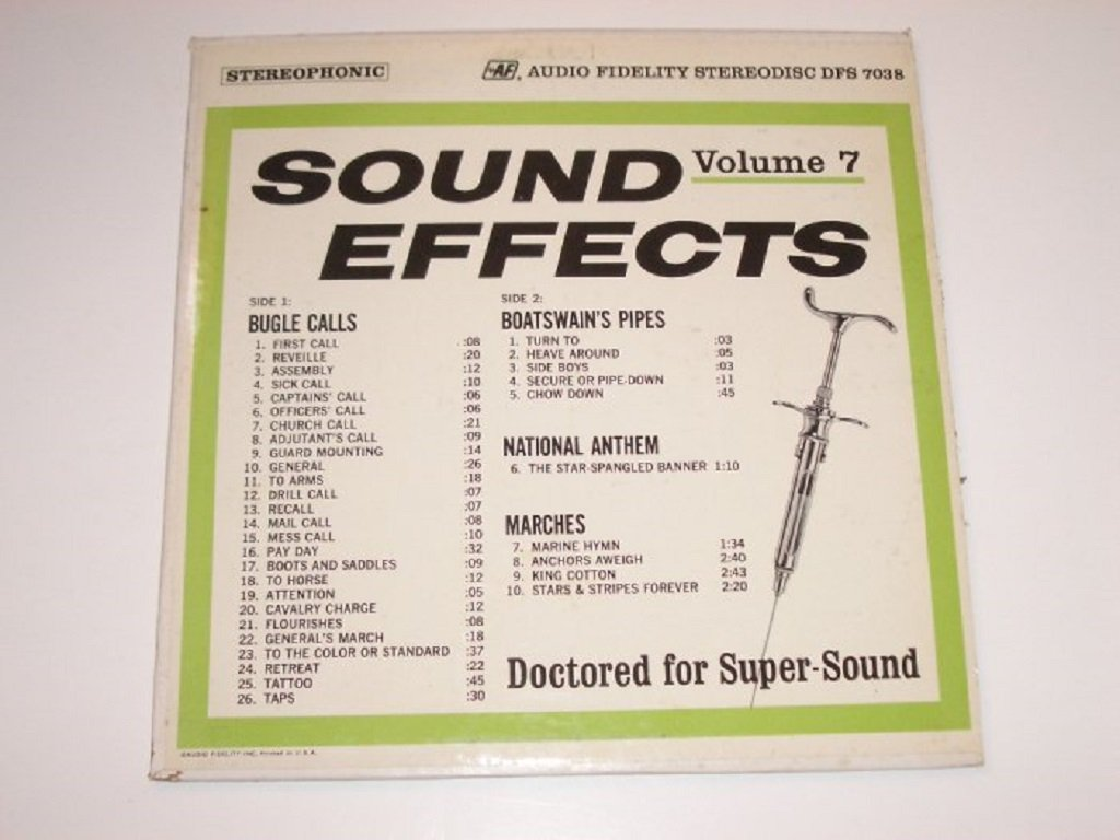 Sound Effects Volume 7 33 RPM Vinyl LP 1964