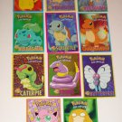 Pokemon Post Card Lot of 11 1998 Psyduck, Jigglypuff, Ekans, Caterpie, Squirtle+