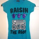 WET SEAL Raisin the Roof T-Shirt Top in Blue Sz Small