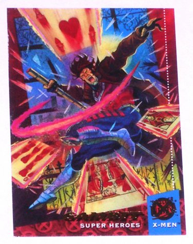 GAMBIT '94 Fleer Ultra X-Men Super Heroes Trading Card Marvel Comics #4