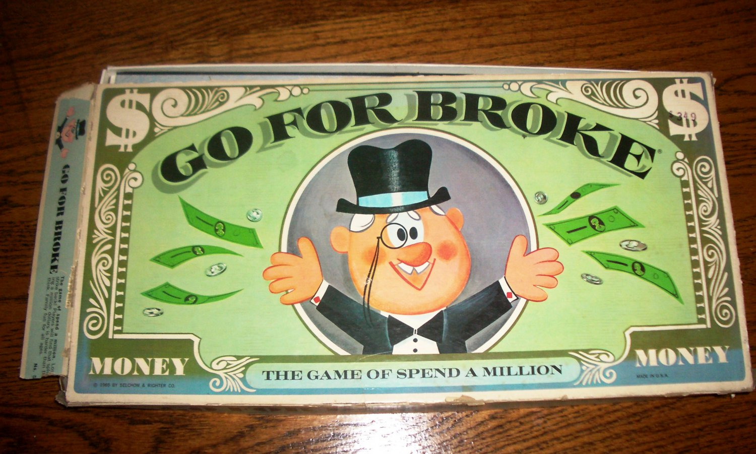 Go For Broke Vintage Board Game by Selchow & Righter 1965