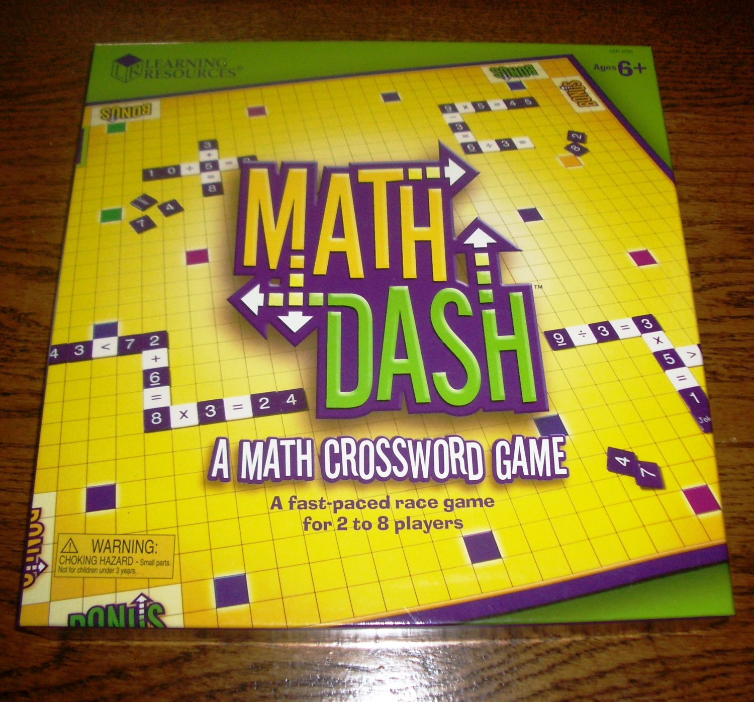 Math Dash Board Game from Learning Resources Ages 6+