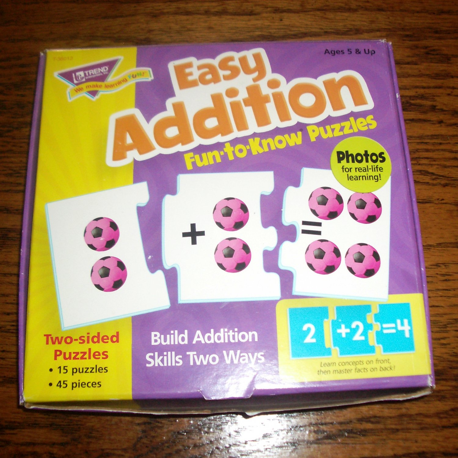 Easy Addition Fun-to-Know Puzzles Addition Skills Builder Ages 5+