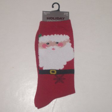Santa Christmas Socks - Kmart Holiday Editions Woman's Socks Shoe Size 4-10