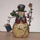 "Snowman Candle Holder 13 1/2"" Tall Metal Tin ~ Winter or Christmas Decor"