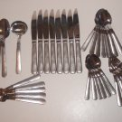 Oneida MORAINE Stainless Flatware - 38 Pieces Including Hostess ~ Discontinued