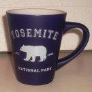 Souvenir Yosemite National Park Ceramic Coffee Mug Dark Blue w/ Bear