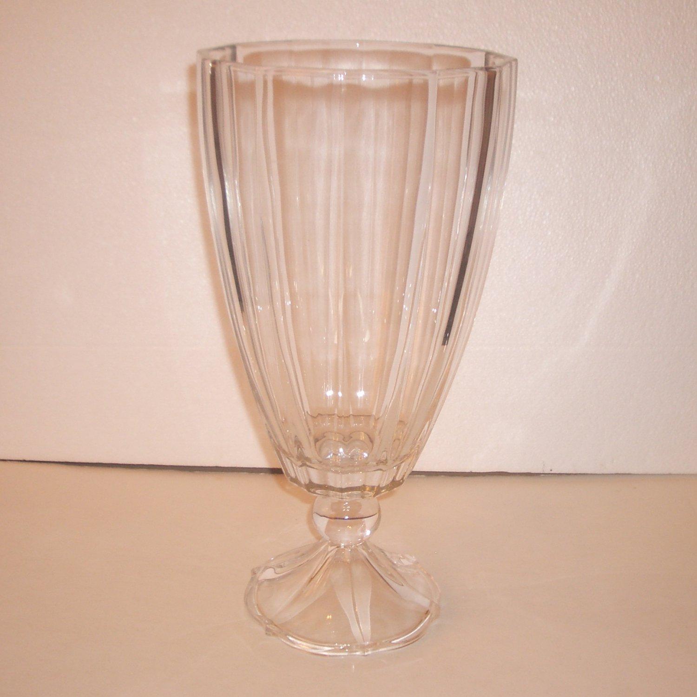 villeroy boch clear vase footed hurricane pedestal heavy glass. Black Bedroom Furniture Sets. Home Design Ideas