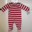 Carter's Little Collections My First Christmas Footie Pajamas Red & White with Santa