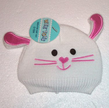Wee Tots Brand Knit Bunny Rabbit Hat for 0-12 Months