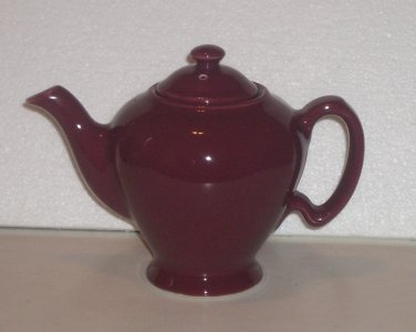 "McCormick Teapot Baltimore MD Burgundy Signed Marked ""JB"" or ""J8"""
