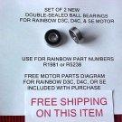 2 Rainbow vacuum main motor bearings (D3C,D4C,SE bearing)