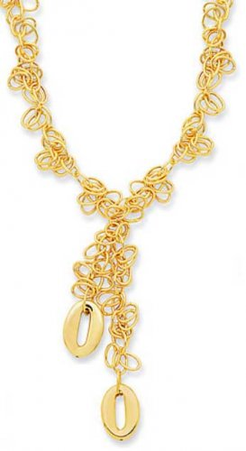 14kt Gold 17in Necklace Geometric Shape