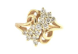 14kt Gold .45 CTW Diamond Ring Size 6.5