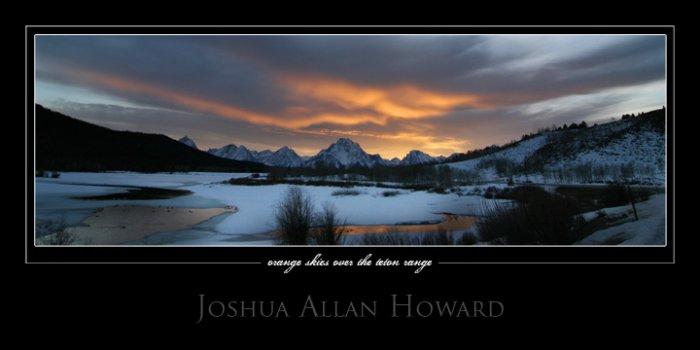 Orange Skies Over the Teton Range by Joshua Allan Howard