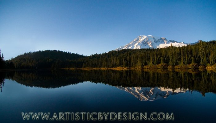"Reflections of Mount Ranier - 10""x 20"" Signed Print"