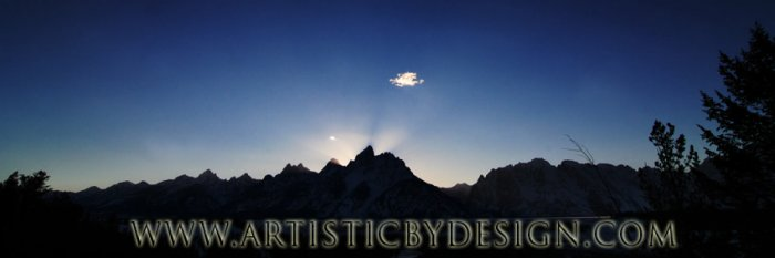 """Grand Silhouette - 10""""x 30"""" Signed Panoramic Print"""