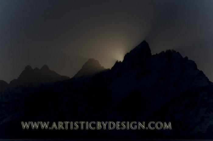 "Last Rays Over Grand Teton - 20""x 30"" Signed Print"