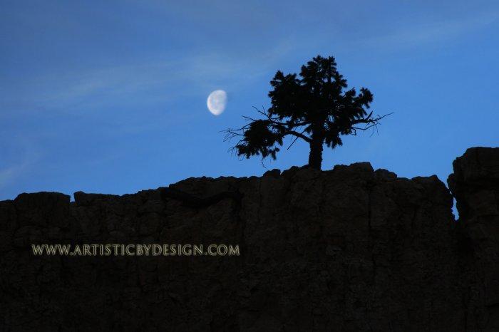 """Moonset at Bryce Canyon - 20""""x 30"""" Signed Print"""