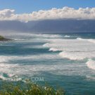 "Pacific Waves Rolling In - 10""x 20"" Signed Print"