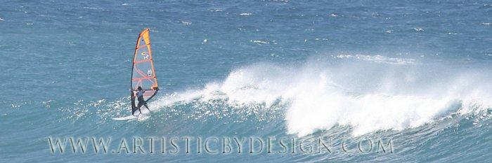 """Chasing the Wind - 10"""" x 30"""" Signed Print"""