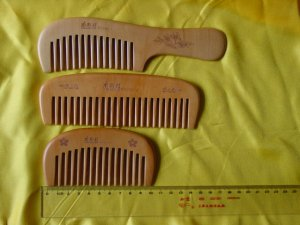 Wood Comb For Curled Hair