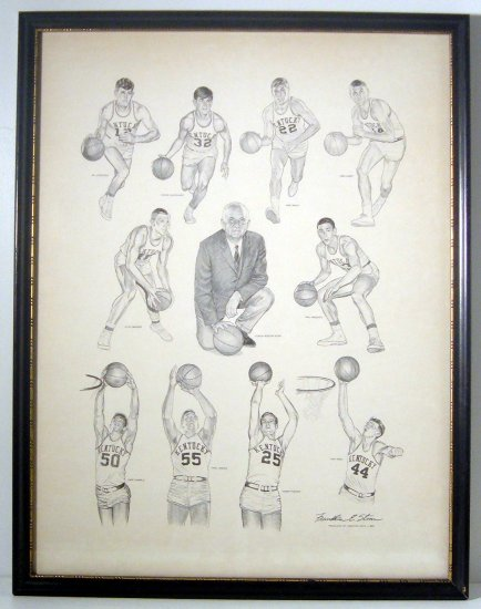 KENTUCKY WILDCATS PRINT BY FRANKLIN STONE