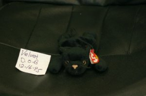 VELVET THE PANTHER BEANIE BABY