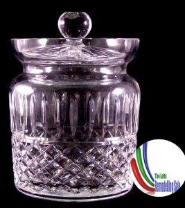 Wateford Crystal Maeve and Tramore Biscuit/Barrel Jar