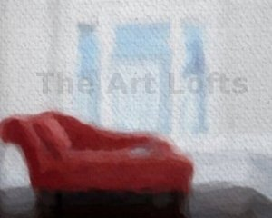 "The Red Chaise - Sableux Peut-être  Print on Canvas (43.2"" x 36.0"")"