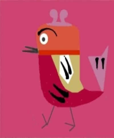 Frank - Sabby's Birds - Original Artwork - Sableux Peut-être