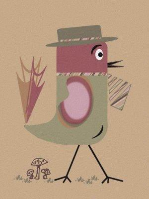 Dapper Dan -  - Sabby's Birds - Original Artwork - Sableux Peut-être
