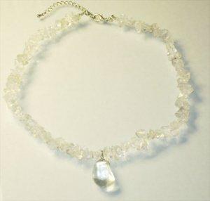 Crystal Quarts Pendant Necklace