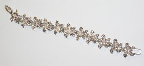 Marcasite Flower Bracelet