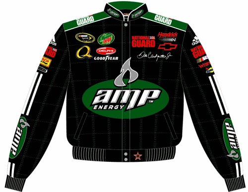 2008 DALE EARNHARDT JR. / AMP ADULT BLACK TWILL JACKET