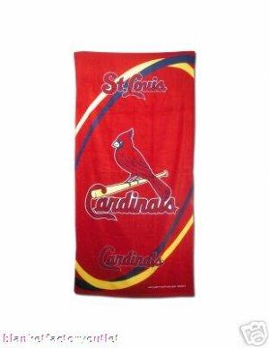 St Louis Cardinals MLB Beach / Bath Towel NEW