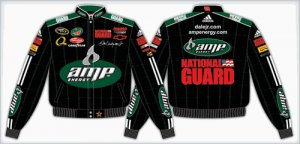 2008 DALE EARNHARDT JR.  AMP KIDS BLACK TWILL JACKET