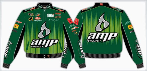 2008 DALE EARNHARDT JR.  AMP KIDS GREEN TWILL JACKET