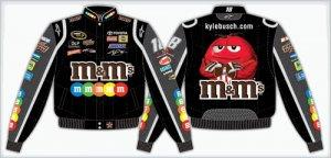 2008 KYLE BUSCH  M&M'S KIDS BLACK TWILL JACKET