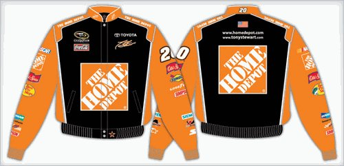2008 TONY STEWART  HOME DEPOT KIDS COLOR TWILL JACKET