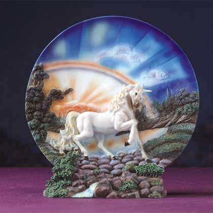 Unicorn Sculpture Plate