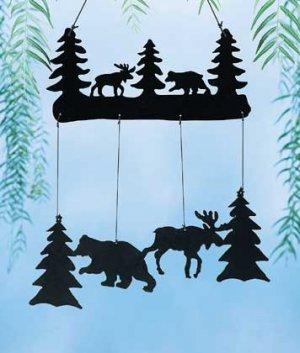 Moose And Bear Windchime