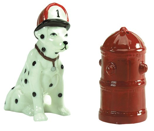 Dog And Hydrent Salt And Pepper Shaker
