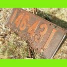 ANTIQUE SINGLE 1925 PENNA License Plate PENNSYLVANIA