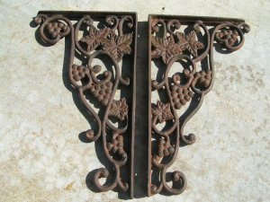 Iron Braces Kitchen Island Corbels Shelf Bracket Grape Ec